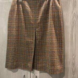 "NWT Pendleton 100% Wool Plaid Skirt 34"" Waist"